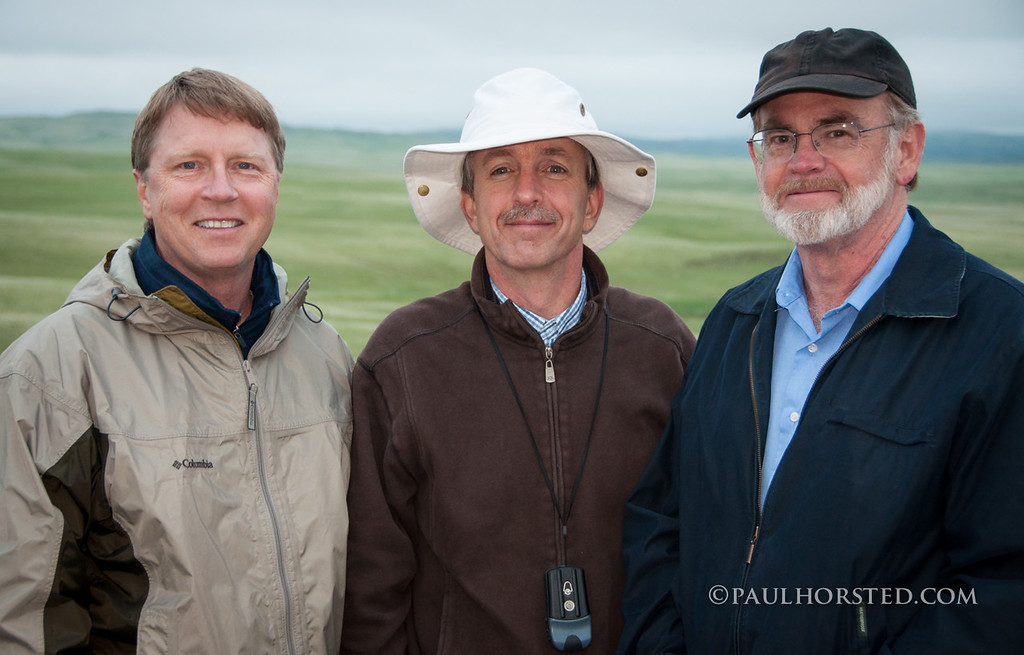 "Paul (center) with ""Crossing the Plains with Custer"" co-author Jon Nelson (left), and ""Exploring with Custer"" and ""Crossing the Plains with Custer"" co-author Ernest Grafe (right)."