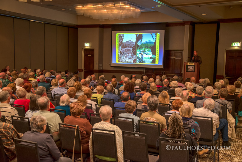 Paul gives presentation on his work to Road Scholar group in Rapid City, S.D.
