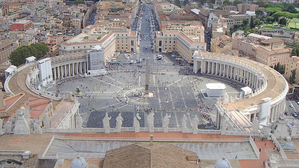 St. Peters Square from the top of the dome.