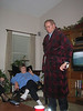 Paw Paw sporting his new robe!