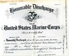 Fred Pechner Honorable Discharge from the USMC, October 1945