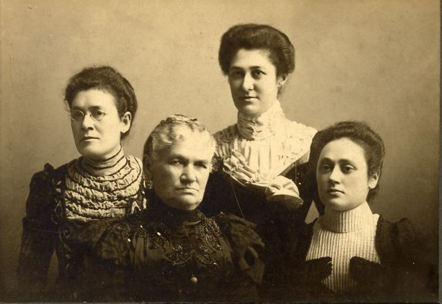 Hanna Lobree Lando (b. 12/5/1831, d. 7/3/1917) and her 3 daughters, Adeline (b1859 d. 1935), Bertha (b. 1864 d. 1945) and Eva (b1866 d 1953)  (Credit to Jeane Moran for the corrections.)