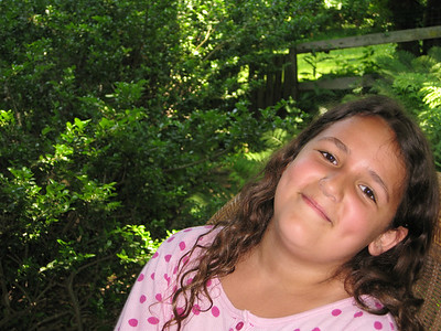 Charlotte outside on the porch.