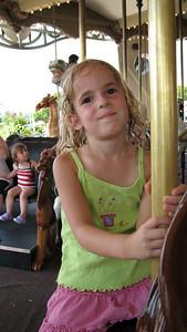 Violet at Dorney Park.