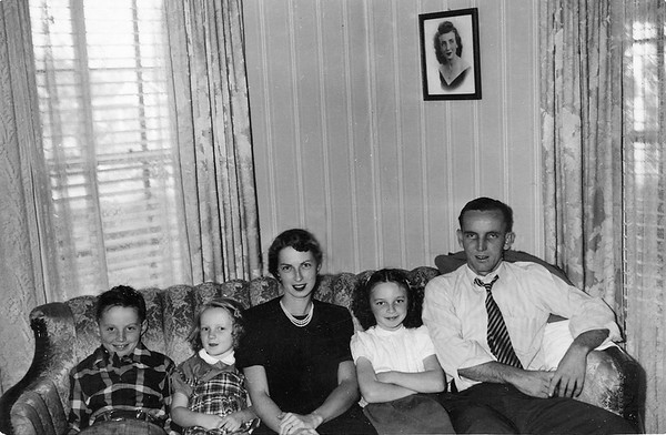 1950ish Geary family in Baytown