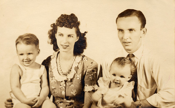 1944 Geary family studio portrait - 1front