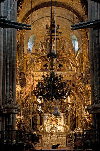 El altar de la Catedral de Santiago de Compostela