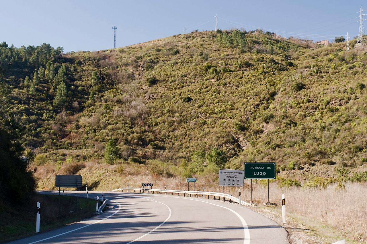 Entrando en la provincia de Lugo