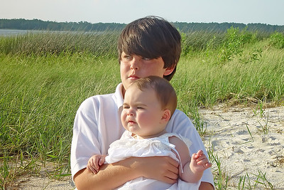 Bradley and Elliot, brother & sister.  Photo by Robin Simmons.