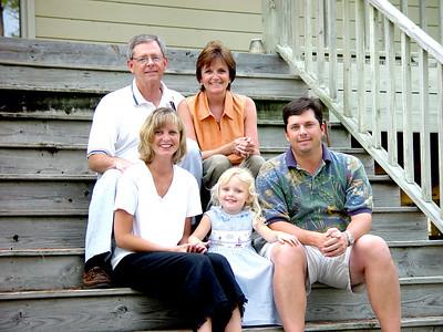 Pritchetts on vacation at St. George Island. Cren, Terry, Rhonda, Rai, and Shaw.