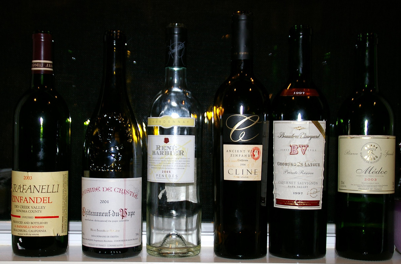 Just a few of the candidates for the 4 glasses of wine.