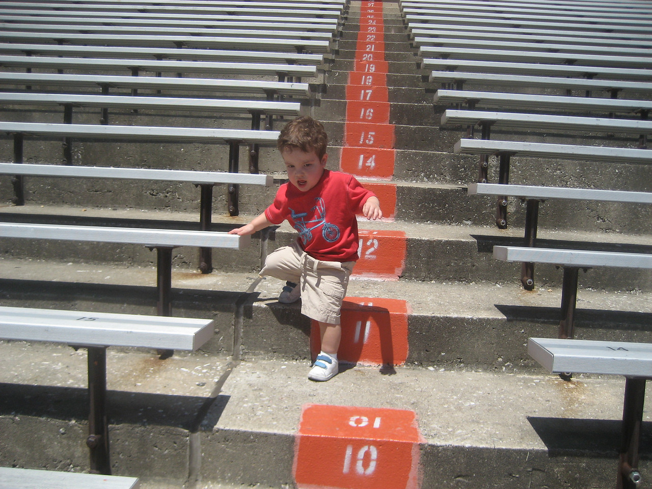 Gabe, running stadiums.  It is never to early to start getting into shape...