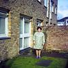 Evelyn Edna Fisher 1970s outside 20 Markfield Courtwood Lane Croydon