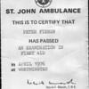 Peter Fisher St Johns Ambulance 197604