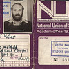 Peter Fisher South Bank Poly NUS card 1976