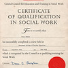 Peter Fisher Certificate of Qualification in Social Work Stevenage College 197507