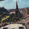 Edinburgh Princess Street and The Castle 1968