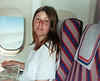 Pam on plane