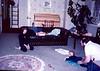 Lara and Peter playing with Kieran