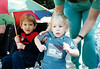 Sean and kieran with umbrella