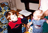 Kieran + Sean at Grandpa Frank's house