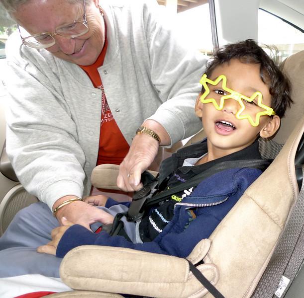 Joe Cool - in a car seat