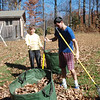 Hans and Debbi getting up leaves.