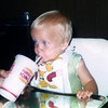 Mike enjoying a drink at Burger King