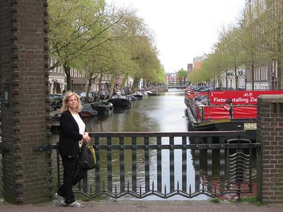Mom at Canal bridge