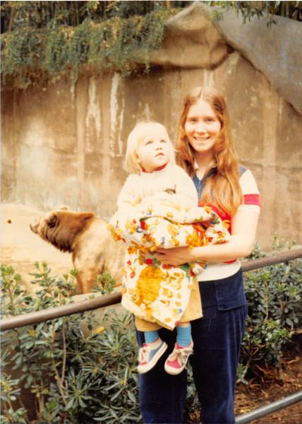 Feb. 28, 1981<br /> San Diego Zoo<br /> Teresa (2 years) and Vickie