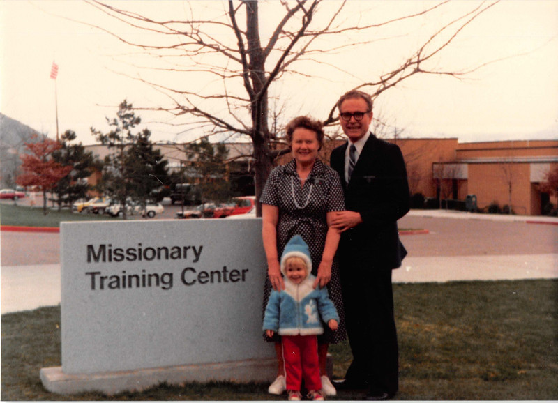 March 1981<br /> Missionary Training Center, Provo, UT<br /> mommy and daddy R. (getting ready to leave on their mission) & Teresa