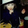 December 1980<br /> 1104 W. 680 S. Orem, UT<br /> Teresa in daddy's hat.