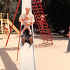June 1981<br /> Liberty Park, Salt Lake City, UT<br /> Bob & Teresa coming down long slide.