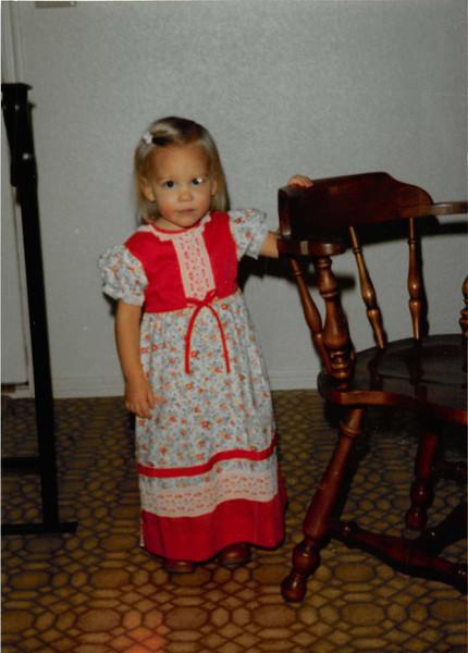 December 1980<br /> 1104 W. 680 S. Orem, UT<br /> Teresa Meakin (21 months old)