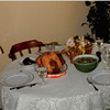 Nov. 27, 1980<br /> 1104 W. 680 S. Orem UT<br /> Our first Thanksgiving table.