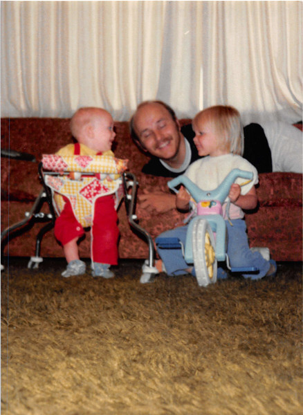 May 1981<br /> 1484 S. 400 E., Orem, UT<br /> Craig Robert & Teresa laughing at daddy.