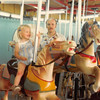 June 1981<br /> Liberty Park, Salt Lake City, UT<br /> Teresa & Bob on merry-go-round.