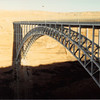 Feb. 1981<br /> Glen Canyon dam bridge.