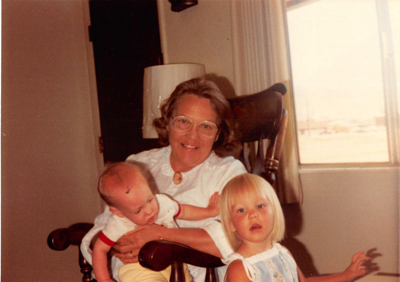 July 1981<br /> 1484 S. 400 E., Orem, UT<br /> Craig (7 1/2 months), Mom M., & Teresa (almost 2 1/2 yrs.)