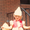 June 1981<br /> 1484 S. 400 E., Orem, UT<br /> Teresa just after church.  She got a hat and balloon in the nursery.