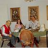 Feb. 26, 1981<br /> Phoenix, AZ<br /> Grandpa Farnsworth, Craig, Vickie, Teresa & Bob finishing dinner.