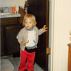 December 1980<br /> 1104 W. 680 S. Orem, UT<br /> Teresa Meakin (22 months) wearing mom's shoes & dad's belt.