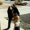 Feb. 1981<br /> Phoenix, AZ<br /> Grandpa Farnsworth wiping Teresa's nose.