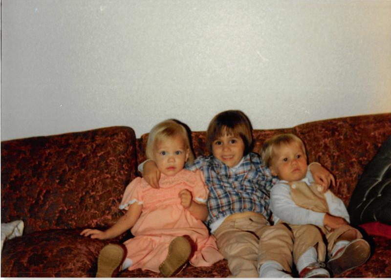 December 1980<br /> 1104 W. 680 S. Orem, UT<br /> Teresa, Brynne Cardall & Wes Cardall