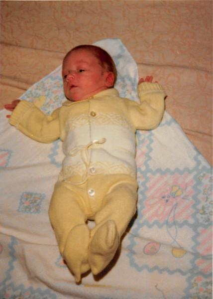 December 3, 1980<br /> 1104 W. 680 S. Orem, UT<br /> Craig Meakin (10 days old)