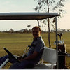 Feb. 1981<br /> Phoenix, AZ<br /> Awatukee Golf Course<br /> Bob in the golf cart