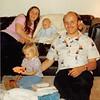 Feb. 26, 1981<br /> Phoenix, AZ<br /> Teresa playing with birthday presents.<br /> Vickie, Teresa, Craig & Bob