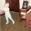 Easter Sunday<br /> April 1981<br /> Teresa collecting eggs.