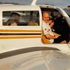 Feb. 26, 1981<br /> Phoenix, AZ<br /> Grandpa Farnsworth, Vickie, Teresa, dad Meakin & Bob getting ready for a plain ride.