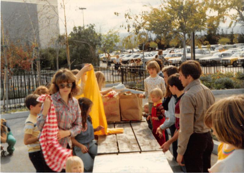 March 1981<br /> Marriott's Great America picnic area<br /> L to R--Daniel R., Janean, Teresa, Elizabeth R., Micheal R., Rachel S., Wes C., Michele R., David R., John, & Darcy S.